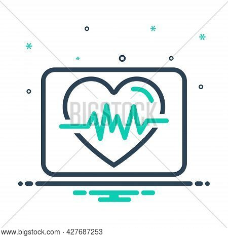 Mix Icon For Heartbeat Life Calligraphy Cardio Heartbeat Cardiology Ehealth Healthcare Heart Pulse M