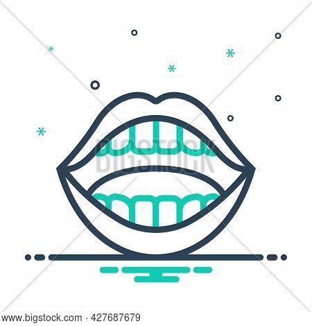 Mix Icon For Mouth Face Maw Orifice Opening Porthole Teeth Sensuality Engraving