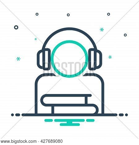 Mix Icon For Audio-course Course Audio-book Digital Device Earphone Education Study Training Online-