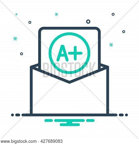 Mix Icon For Best-grade Best Grade Result Good Handwriting Achievement Grading Education Quality Top