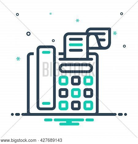 Mix Icon For Fax-message Telecommunications Message Technologies Telefax Communication Fax Bill Mach