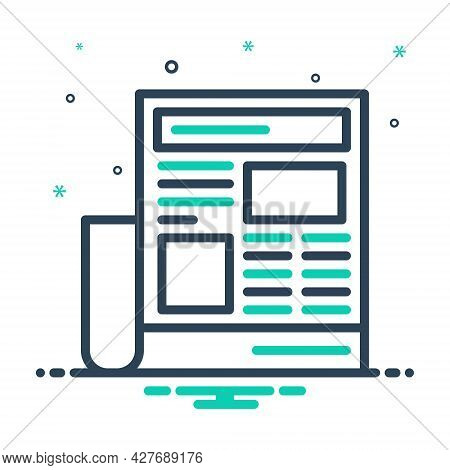 Mix Icon For Newspaper-ads Newspaper Paper Opportunity Magazine Interview Document Classified Opport