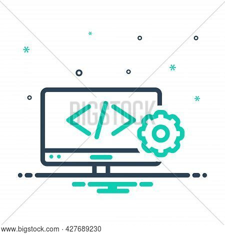 Mix Icon For Web-develop Coding Html Programming Browser Page Software Website Webpage Development W