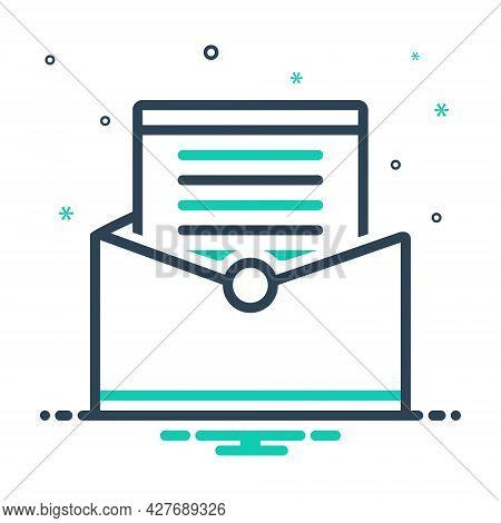 Mix Icon For Letter Communication Messages Tidings Paper Text Scenarios Script Document Manuscript C