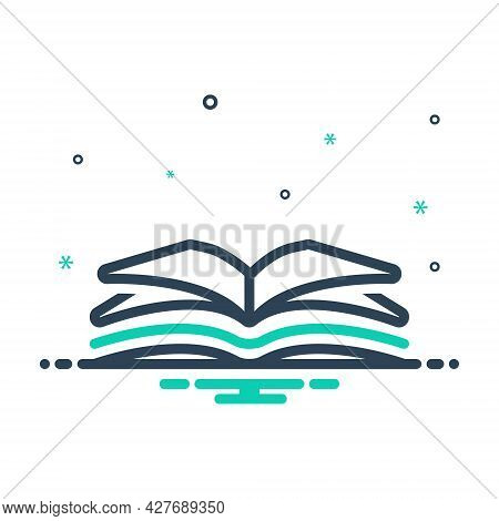 Mix Icon For Open-book Open Book  Magazine Textbook Publication Encyclopedia Magazine Textbook Educa