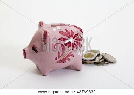 Pooping piggybank