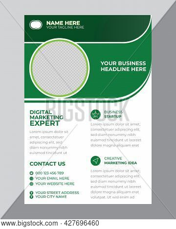 Green And White Creative Business Poster Design Template
