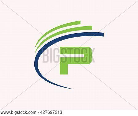 P Logo Design. P Letter Logo Design For Business, Construction, Technology And Real Estate Concept