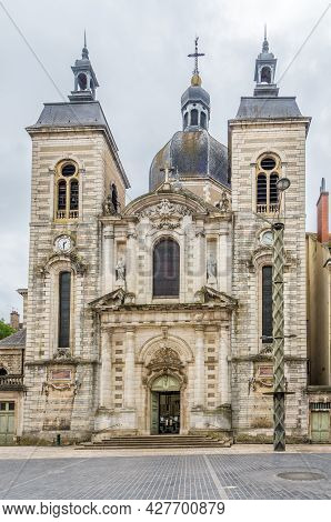 View At The Church Of Saint Pierre In The Streets Of Chalon Sur Saone - France