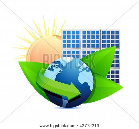 Renewal Energy Globe Solar Panel Concept