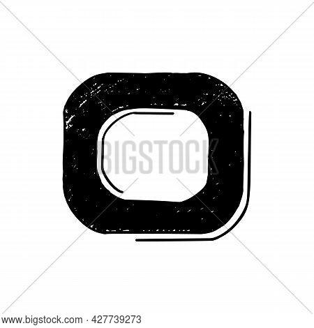 Letter O Sketch Style Hand Lettering. Vector Illlustration. Sloppy Handwritten Font