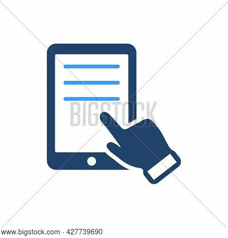 Reading Ebook Icon. Meticulously Designed Vector Eps File.
