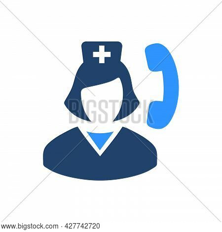 Medical Helpline Icon. Meticulously Designed Vector Eps File.