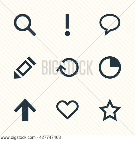 Vector Illustration Of 9 Member Icons. Editable Set Of Star, Soul, Search And Other Icon Elements.