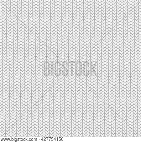 Knitted Background White Gray Pattern Surface Solid Color