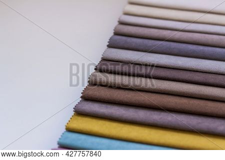 Backgrounds Made Of Natural And Artificial Fabrics For The Decoration Of Textiles, Furniture And Clo