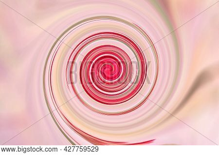 Red Pink Background From Distortion And Abstraction With Twisting