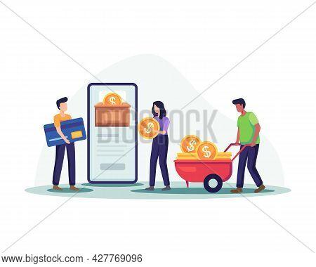 Online Money Illustration