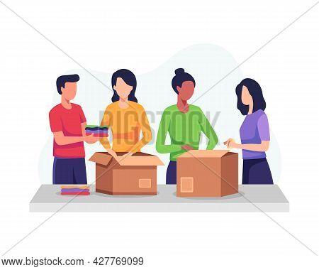 Clothing Donation Illustration