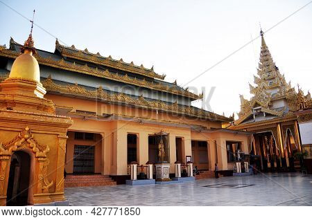 Duke Of Shwetaung Statue Or Thado Minsaw Crown Prince Of Bodawpaya Monument For Burmese People And F