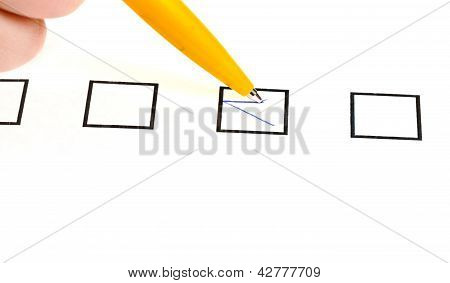 Tick In Black Square Box