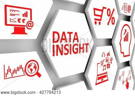 Data Insight Concept Cell Background 3d Illustration