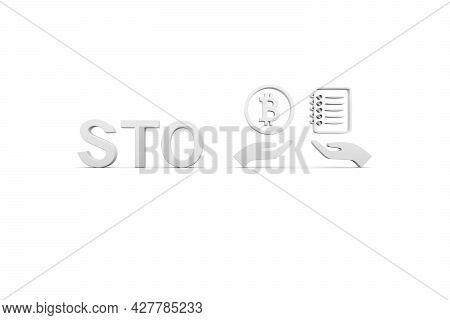 Sto Concept White Background 3d Render Illustration