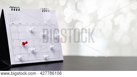 Calendar Event Planner Is Busy.calendar,clock To Set Timetable Organize Schedule,planning For Busine