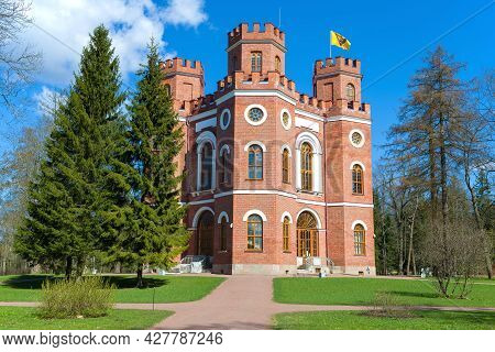 Pushkin, Russia - May 09, 2021: View Of The Old Pavilion