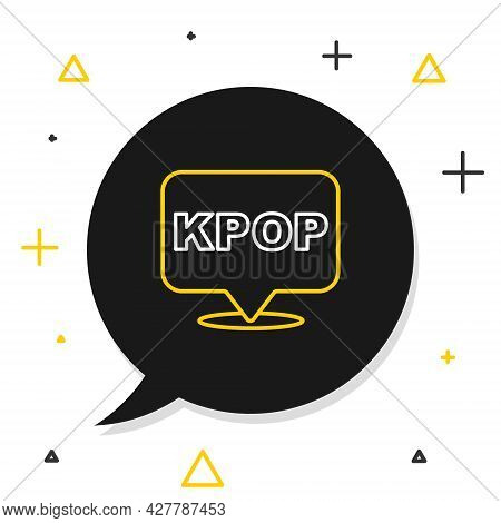 Line K-pop Icon Isolated On White Background. Korean Popular Music Style. Colorful Outline Concept.