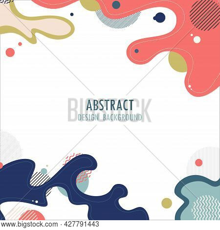 Abstract Wavy Element Design Artwork Of Geometric Pattern Design Cover. Template Design For Headline