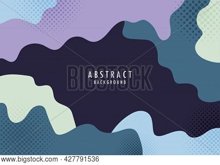 Abstract Organic Shape With Halftone Design Colorful Template. Overlapping For Cover Minimal Style T