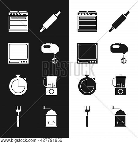 Set Electric Mixer, Electronic Scales, Oven, Rolling Pin, Kitchen Timer, Blender, Manual Coffee Grin
