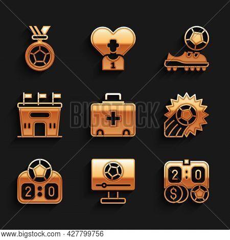 Set First Aid Kit, Football Match On Tv, Betting Money, Soccer Football, Sport Mechanical Scoreboard