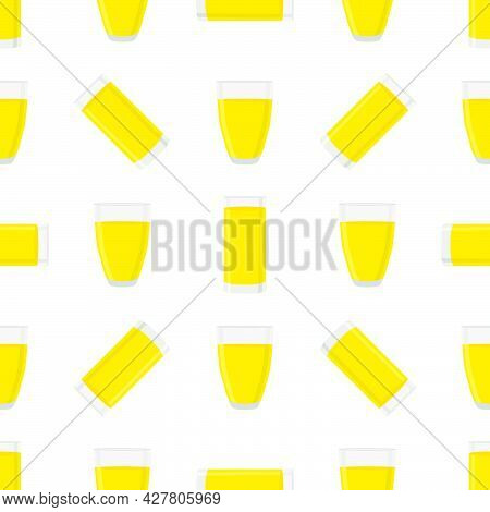 Illustration On Theme Big Colored Lemonade In Glass Cup