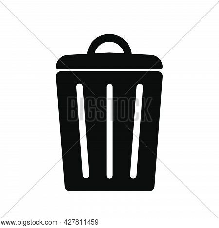 Trashcan Simple Icon Bio Eco Symbol For Web And Business