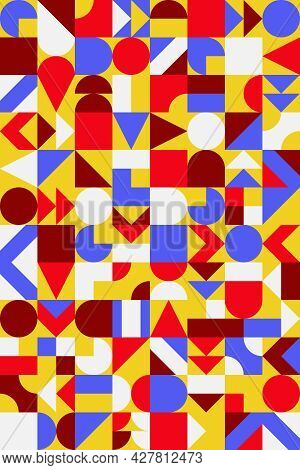 Abstract Bauhaus Background. Mid Century Modern Design. For Poster, Card, Wall Art Decor, Cover.
