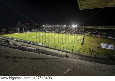 Rio, Brazil - July 24, 2021: Arena View In Match Between Vasco 4 Vs 1 Guarani By 14th Round Of Brazi
