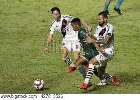 Rio, Brazil - July 24, 2021: Matias Galarza, Leandro Castan E Davo Players In Match Between Vasco 4