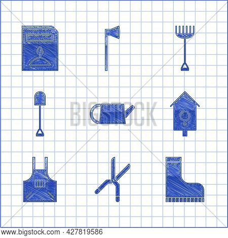 Set Watering Can, Gardening Handmade Scissors, Waterproof Rubber Boot, Retro Wall Watch, Kitchen Apr