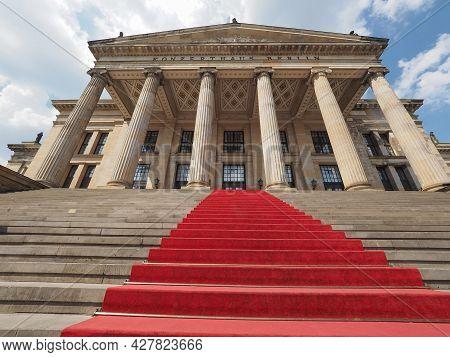 Konzerthaus (concert Hall) On The Gendarmenmarkt Square In Central Mitte District In Berlin, Germany