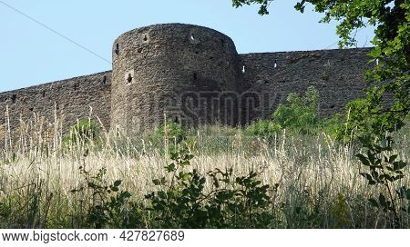 View Of The Fortifications Of The Castle Helfstyn In The Czech Republic.