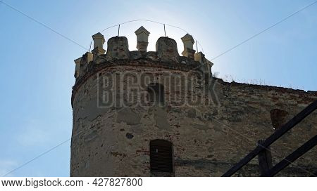 View Of The Tower Of Boskovice Castle In The Czech Republic.