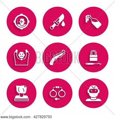 Set Police Shotgun, Handcuffs, Thief Mask, Lock Picks For Lock Picking, Kidnaping, Surrendering Hand