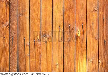 Wood Texture. Wooden Plank Grain Background. Striped Timber Desk Closeup. Old Table Or Floor.