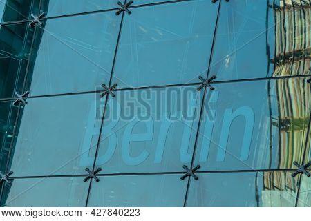 Berlin, Germany - July 25, 2019: Central Train Station In Berlin. Berlin - Hauptbahnhof. Modern Glas
