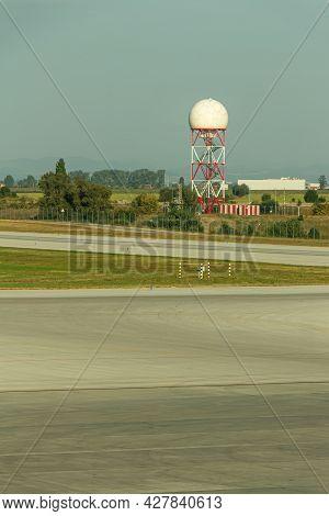 Sofia, Bulgaria - September 02, 2018: Sofia Airport Radar Complex, Lbsf, Sof
