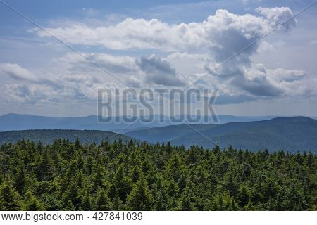The View From The Summit Of Hunter Mountain, Which Is The Highest Peak Of 4039-feet In The Catskill