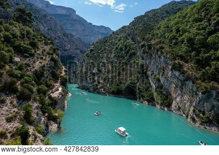 National Park Grand Canyon Du Verdon And Turquoise Waters Of Mountains Lake Sainte Croix And Verdon