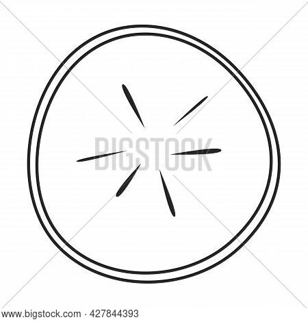 Radish Slice Vector Icon.outline Vector Icon Isolated On White Background Radish Slice.